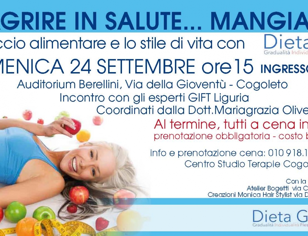 DIMAGRIRE IN SALUTE…MANGIANDO